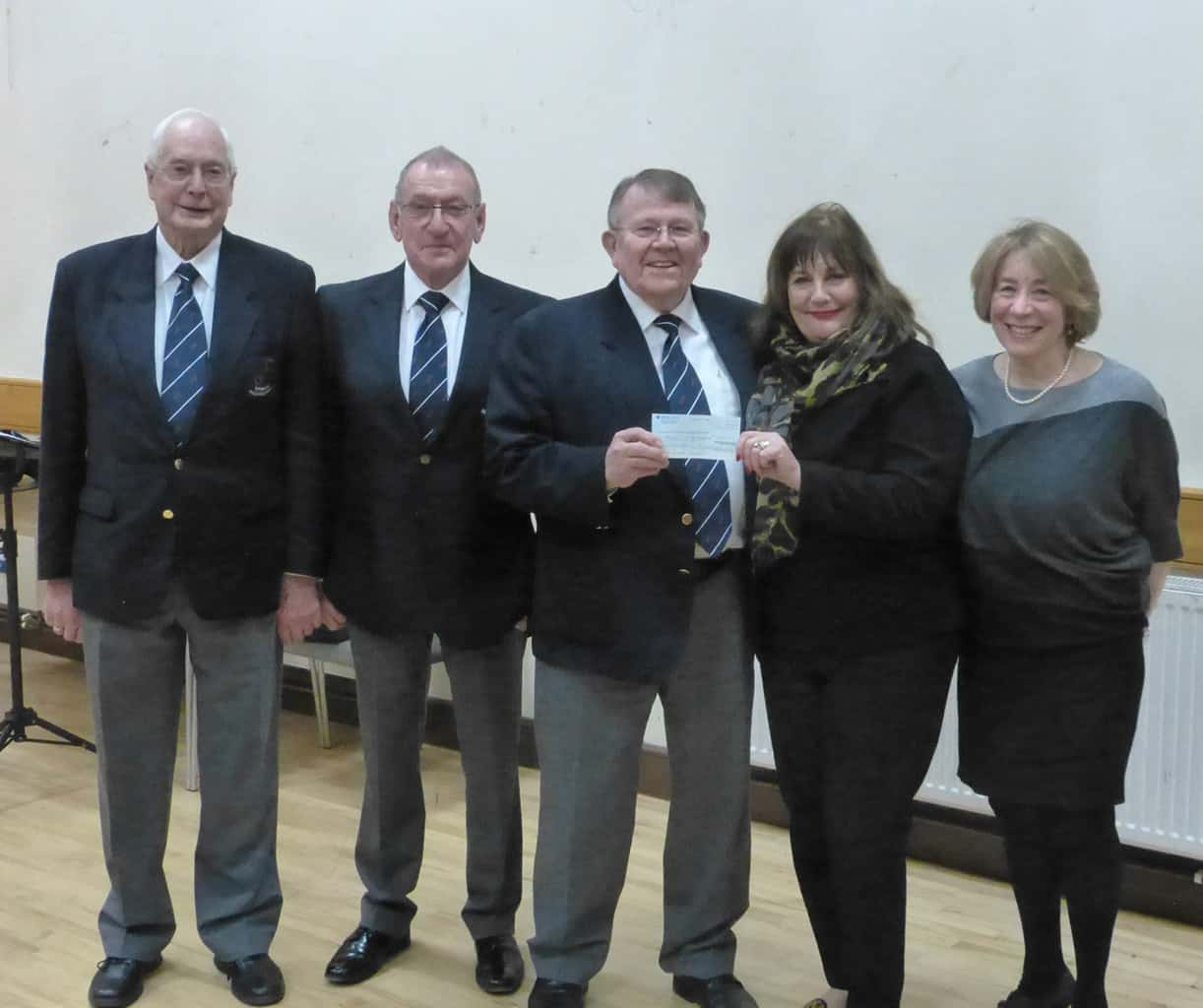 Rushmoor male voice choir raises £1,500 for young persons' hospices